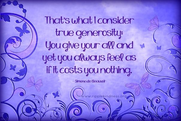 True generosity