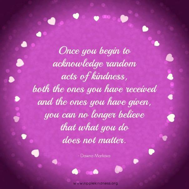 Acknowledge kindness