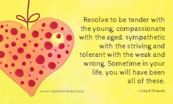 Be caring, tender, sympathetic