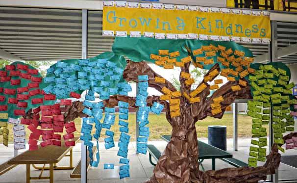 Kindness tree at Alta Vista Elementary School