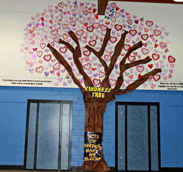 Kindness tree at Upper Greenwood Lake Elementary