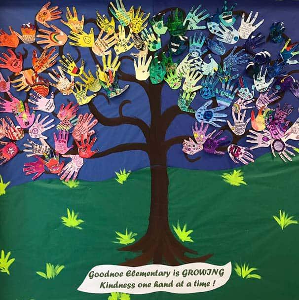 Kindness tree from Goodnoe Elementary