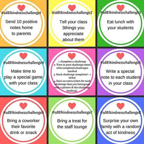 JFK Elementary Staff Kindness Challenge