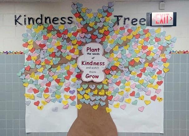 Kindness tree at Gowanda Elementary