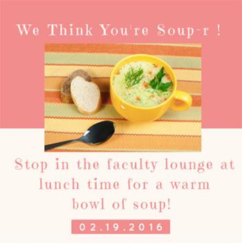 JFK Elementary Soup Bar Flyer