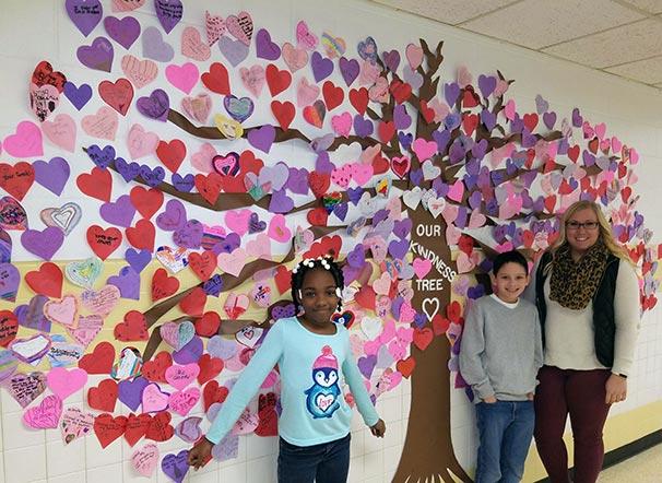 White Oaks Elementary Kindness Tree