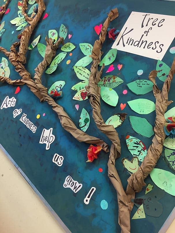 Kindness tree at Gateway Public School