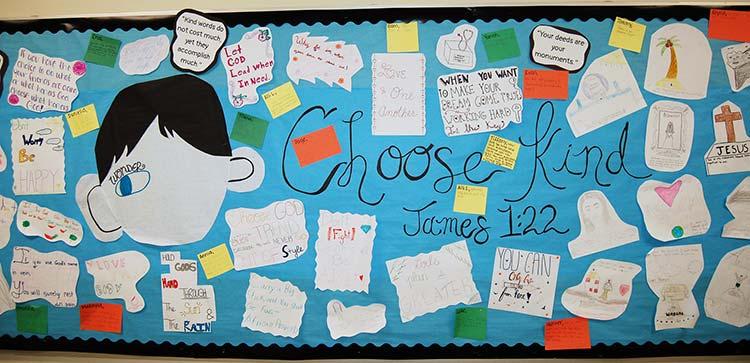 Choose Kind Bulletin Board by Atlantic Christian College