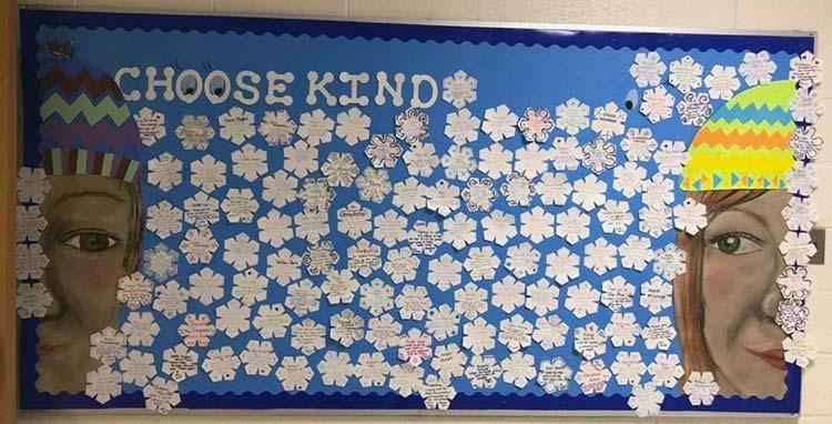 Choose kind bulletin board by St Elizabeth Catholic School