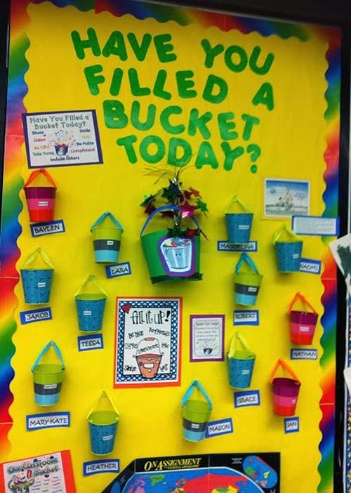 Little Mrs. Preschool Bucket Filler's Bulletin Board