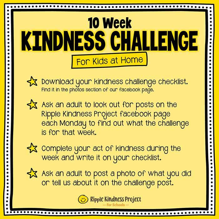 Facebook Kindness Challenge For Kids Instructions