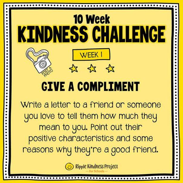 10 Week Kindness Challenge For Kids – Week 1