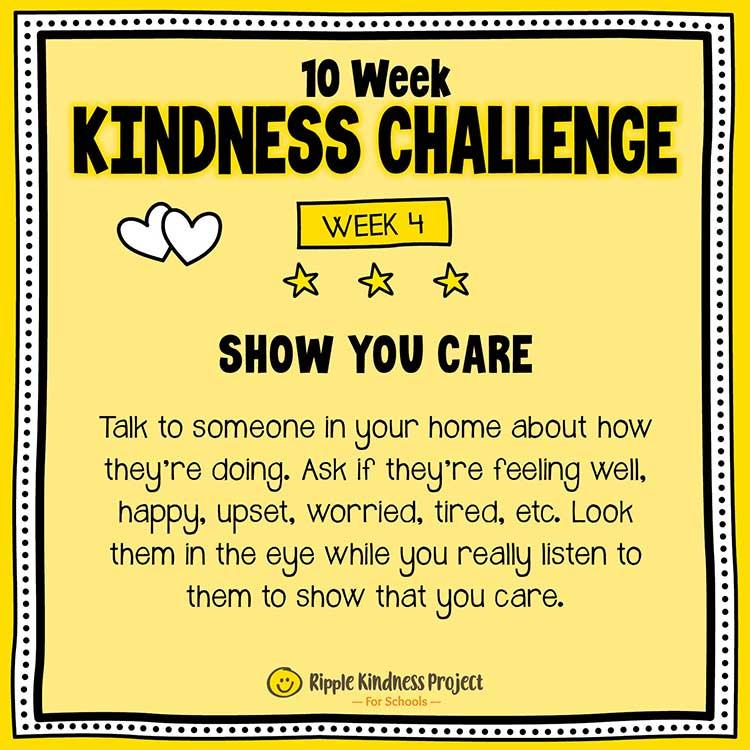 Facebook Kindness Challenge For Kids Week 4