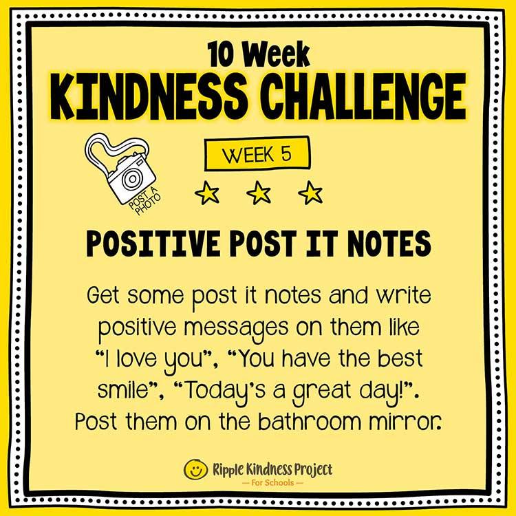 Facebook Kindness Challenge For Kids Week 5