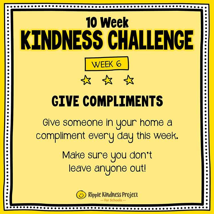 Facebook Kindness Challenge For Kids Week 6