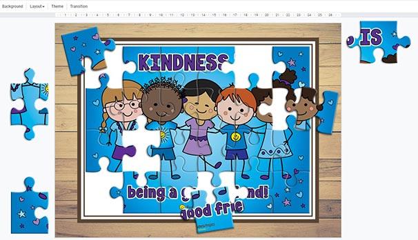 Freebie Kindness Puzzle In Progress